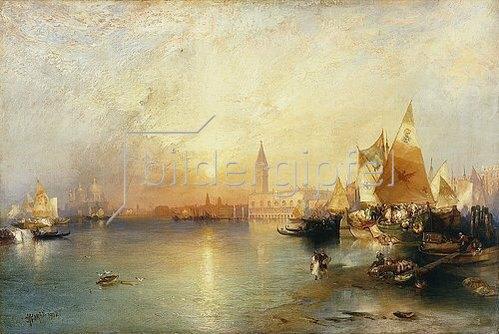Thomas Moran: Venedig bei Sonnenuntergang mit der Santa Maria della Salute und dem Dogenpalast. 1902.