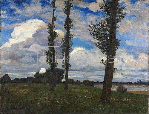 Ernst Hardt: Niederrheinische Landschaft. Um 1900