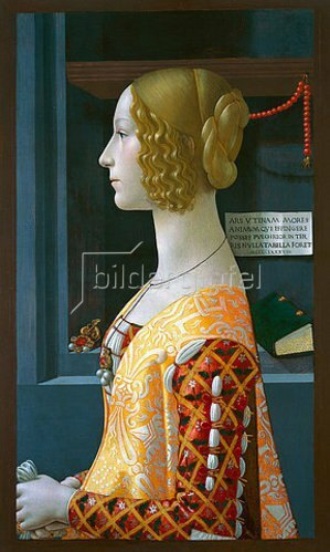 Domenico (T.Bigordi) Ghirlandaio: Bildnis von Giovanna Tornabuoni. 1489-90