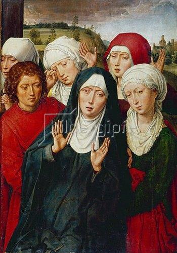 Hans Memling: Die Heiligen Frauen mit Johannes dem Täufer. Um 1475