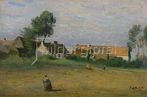 Jean-Baptiste Camille Corot: Erntebild.