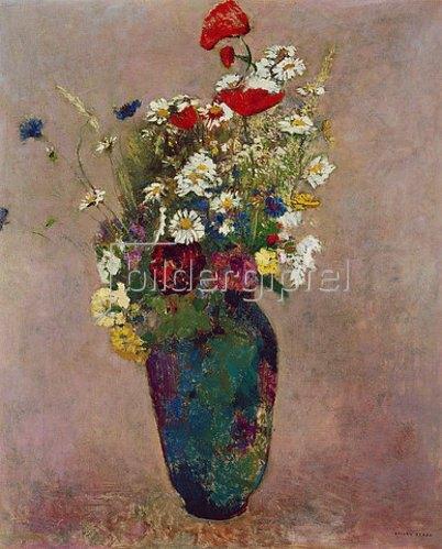 Odilon Redon: Blumenvase mit Mohn.