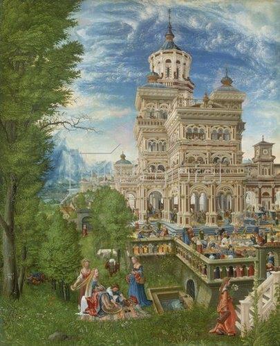 Albrecht Altdorfer: Susanna im Bade und die Steinigung der Alten. 1526.