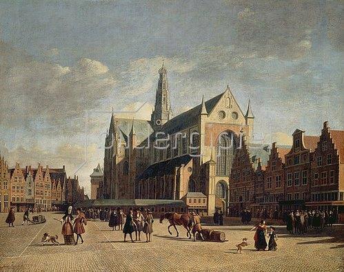 Gerrit Adriaensz Berckheyde: Der Marktplatz von Haarlem. Um 1690/1700