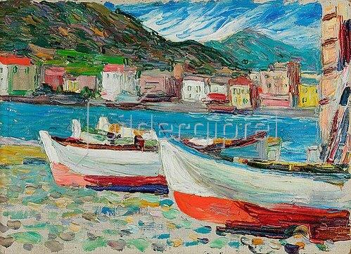Wassily Kandinsky: Rapallo, Boote. 1905