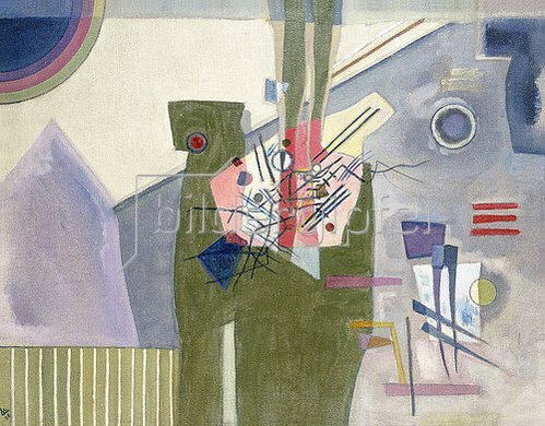 Wassily Kandinsky: Rosa im Grau. 1926