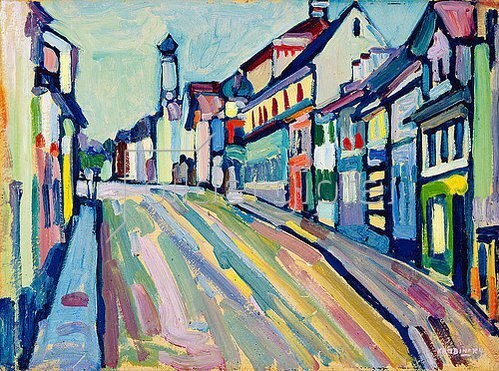 Wassily Kandinsky: Murnau - Untermarkt. 1908
