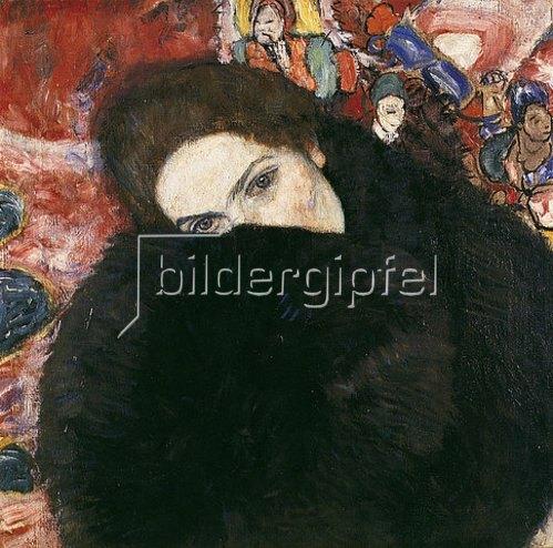 Gustav Klimt: Dame mit Muff. 1916/17.