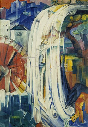 Franz Marc: Die verzauberte Mühle. 1913