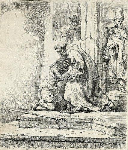 Rembrandt van Rijn: Die Rückkehr des verlorenen Sohnes. 1636
