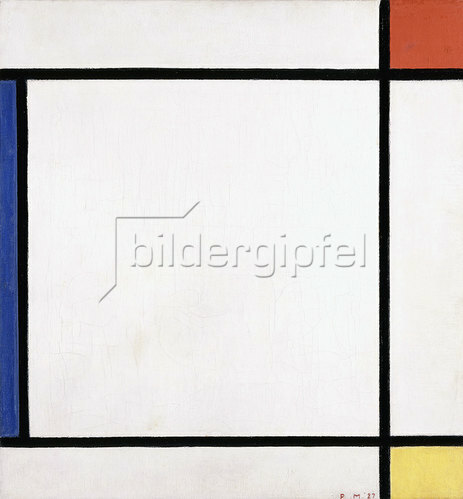 Piet Mondrian: Komposition III mit Rot, Gelb und Blau. 1927