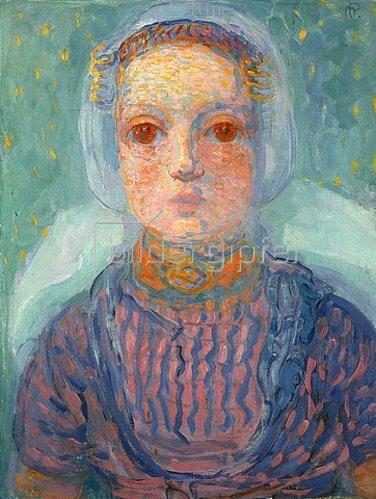 Piet Mondrian: Mädchen aus Seeland (Zeeuws Meisje). 1909-10