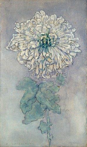 Piet Mondrian: Chrysantheme. Um 1900