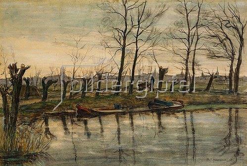Piet Mondrian: Bauer auf der Rückkehr vom Feld. Um 1900