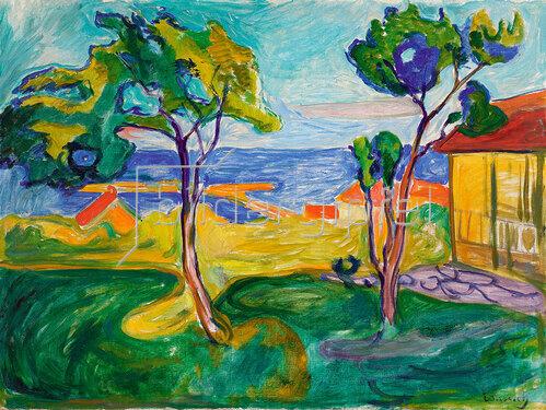 Edvard Munch: Der Garten in Åsgårdstrand. 1904-05