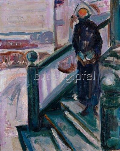 Edvard Munch: Frau auf einer Veranda.