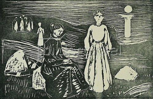 Edvard Munch: Frauen am Meeresstrand in der Sommernacht. 1908-09