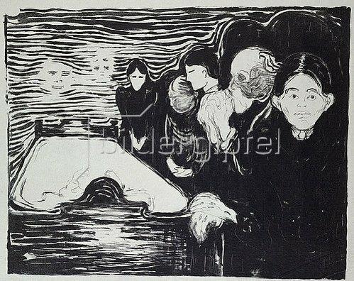 Edvard Munch: Todeskampf.