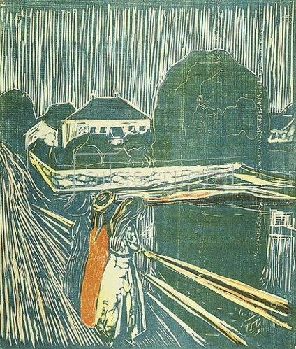 Edvard Munch: Mädchen auf der Brücke. 1920