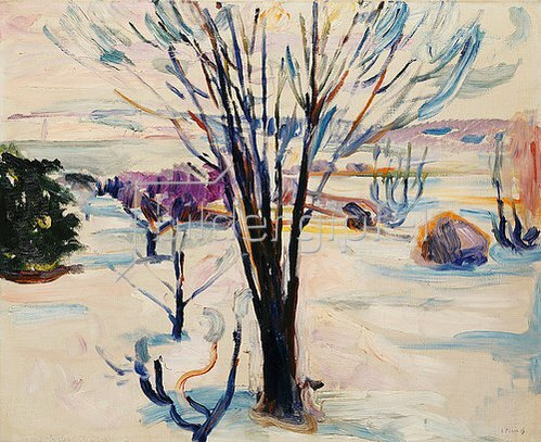 Edvard Munch: Winterlandschaft in Jeløya. 1912