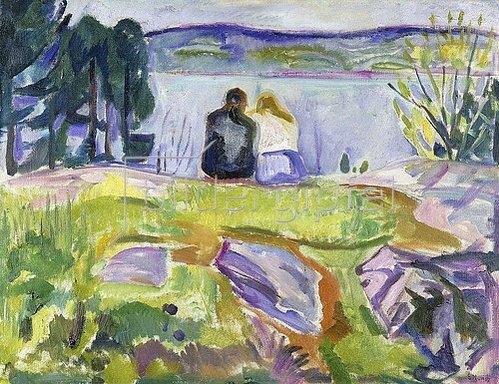 Edvard Munch: Frühling (Liebespaar am Ufer). Zwischen 1911 und 1913