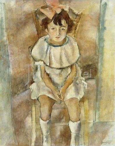 Jules Pascin: Kleines Mädchen in Rosa (Fillette en Rose). 1926