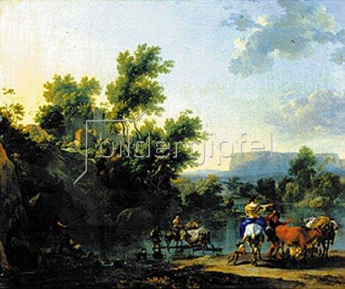 Nicolaes Berchem: Italienische Landschaft.