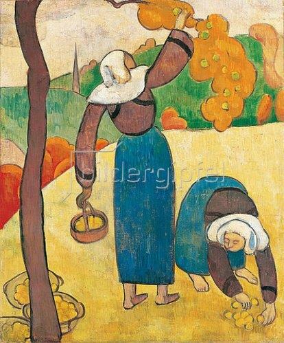Emile Bernard: Bretonische Bäuerinnen (Paysannes bretonnes). Um 1889
