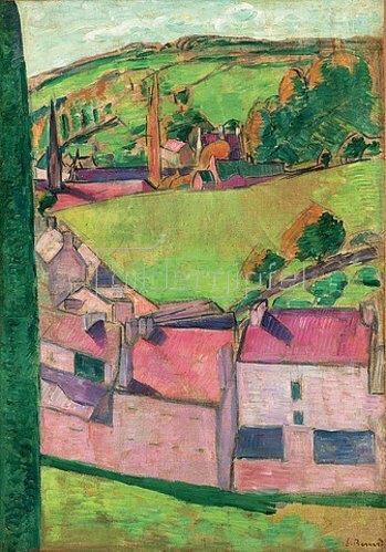 Emile Bernard: Ansicht von Pont-Aven, Landschaft von Pont-Aven (Vue de Pont-Aven, paysage de Pont-Aven). 1888