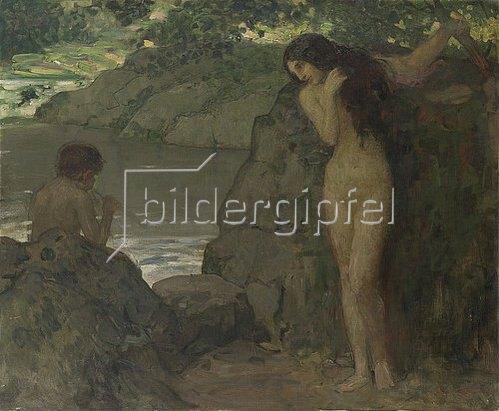 Wilhelm Volz: Nymphe am Weiher. 1901