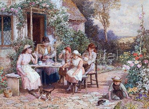 Myles Birket Foster: Teatime.