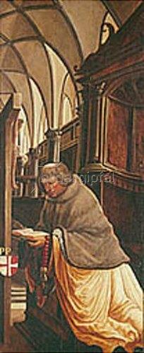 Albrecht Altdorfer: Passions/Sebastians-Altar in St.Florian Propst Maurer, Stifter des Altars.