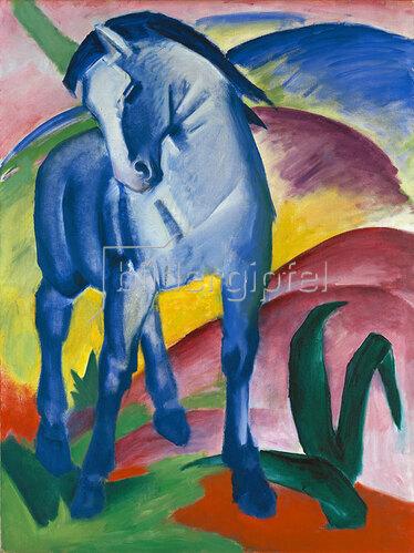 Franz Marc: Blaues Pferd I., 1911.