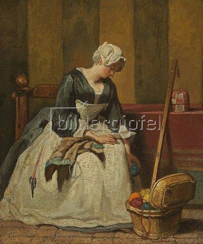 Jean-Baptiste Siméon Chardin: Die Stickerin.