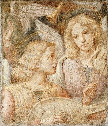 Bernardino Luini: Musizierende Engel (Fragment).