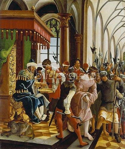 Albrecht Altdorfer: Passions/Sebastians-Altar in St.Florian Christus vor Pilatus.