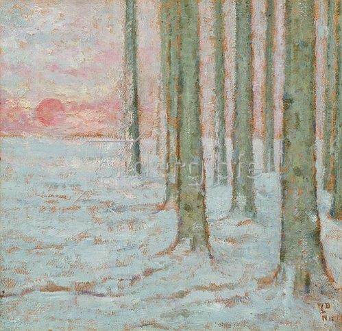 William Degouve de Nuncques: Winterwald (Hiver dans la Forêt). 1912