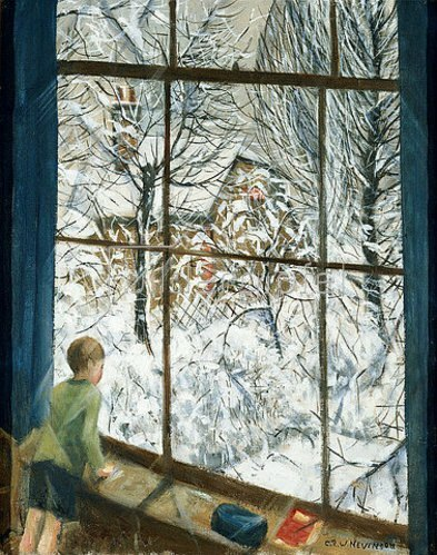 Christopher Richard Wynne Nevinson: Blick in den Schnee (Looking at the Snow).