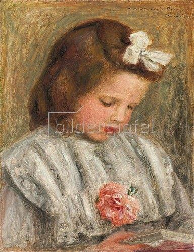 Auguste Renoir: Kopf eines Mädchens (Tête de fillette). Um 1893