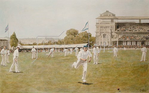 William Barnes Wollen: Cricket at Lords. 1896