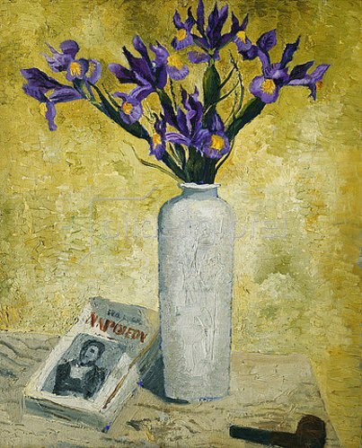 Christopher Wood: Schwertlilien in einer hohen Vase. 1928