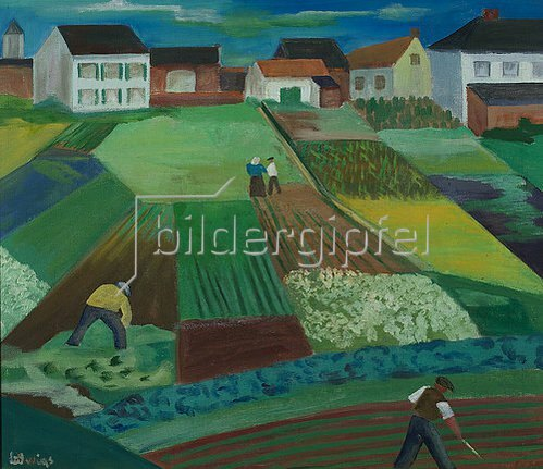 Peter Ludwigs: Felder in Hamm  (Kappeshamm). 1929