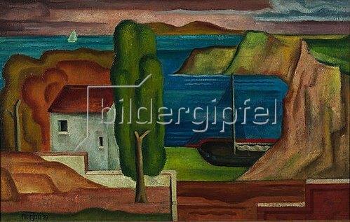 Franz Monjau: Südliche Landschaft. 1929