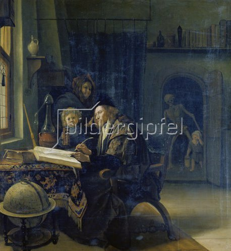 Jan Steen: Gelehrter am Studiertisch. Nach 1665.