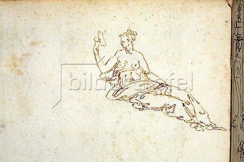 Guglielmo della Porta: Prudentia - Detail. Um 1545/46
