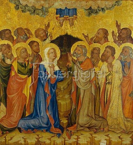 Meister des Altars von Hohenfurth: Die Himmelfahrt Christi.