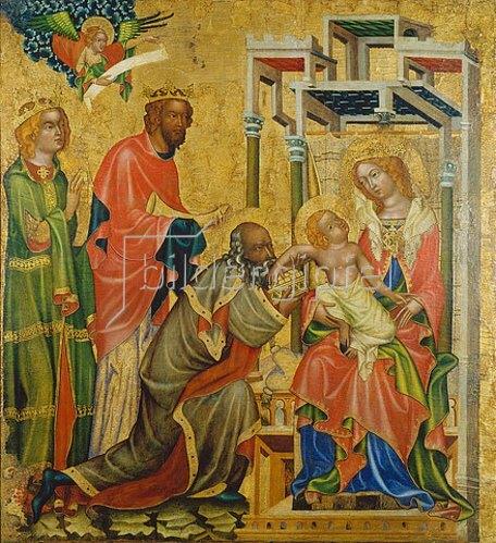 Meister des Altars von Hohenfurth: Die Anbetung der hl.drei Könige.