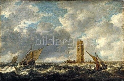 Bonaventura Peeters I.: Stürmische See. 1640er Jahre.