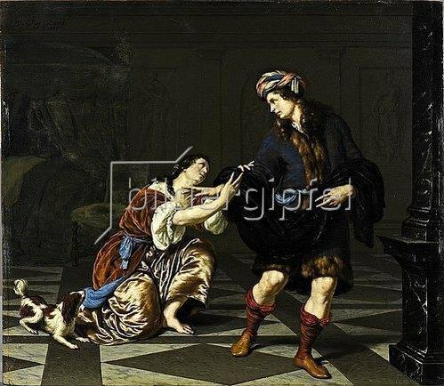 Willem van Mieris: Joseph und Potiphars Weib. 1685.