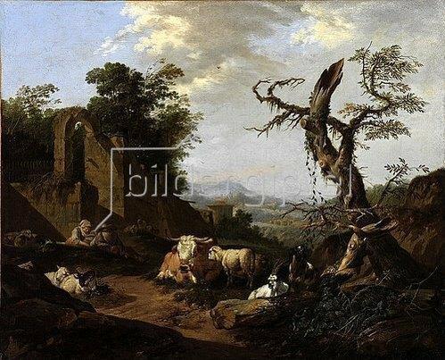 Johann Heinrich Roos: Italienische Landschaft. 1669.